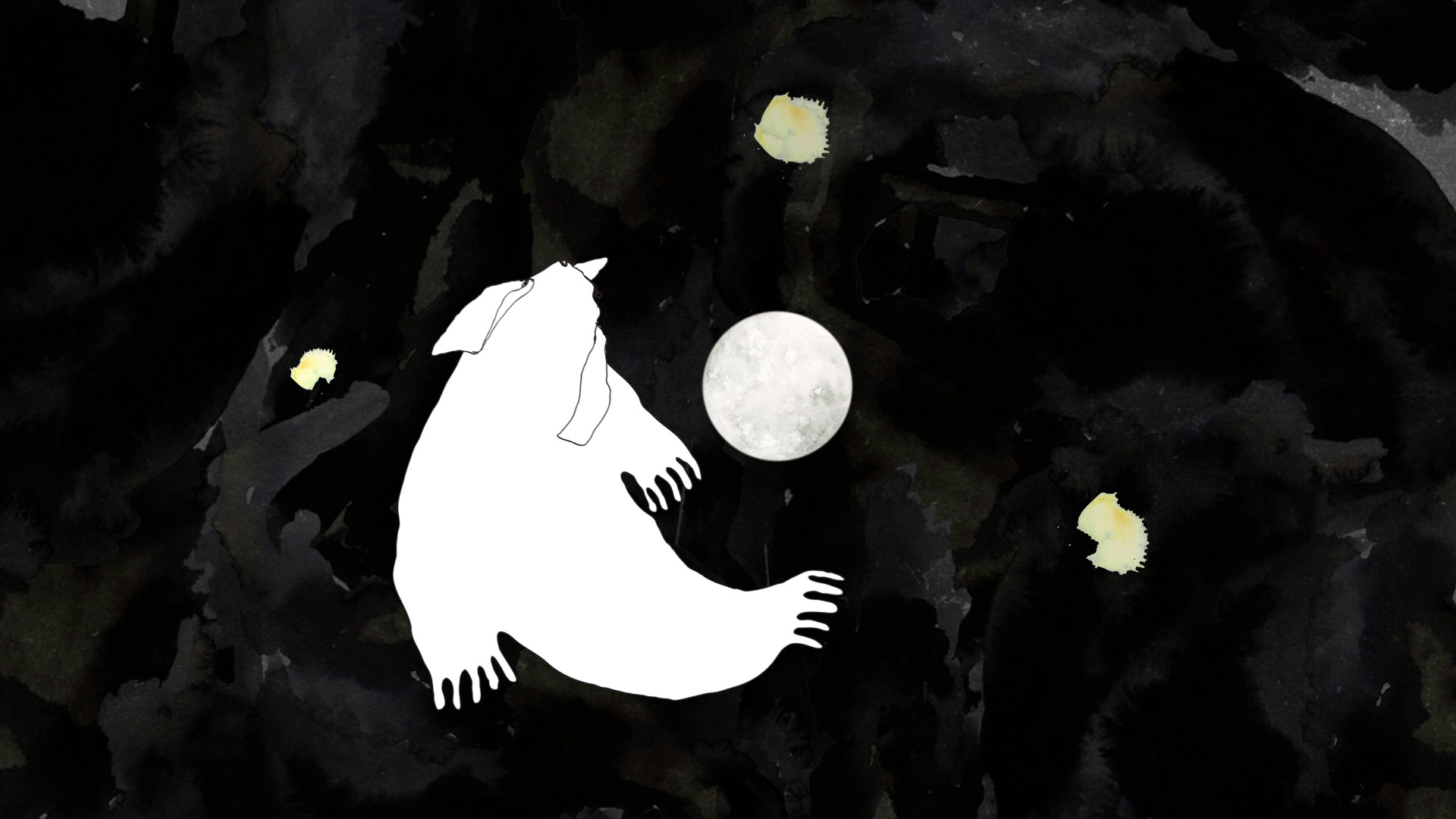 Strange elephant potato creature is flying into the moon